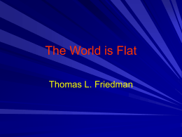 The World is Flat - Fairfield University