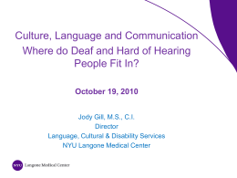 The Deaf Experience and Colonization