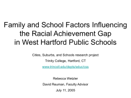 Family and School Factors Influencing the Racial