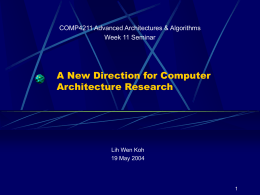 COMP4211 Computer Architecture