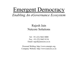 Emergent Democracy