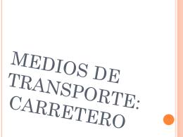 TRANSPORTE CARRETERO OCEANIA