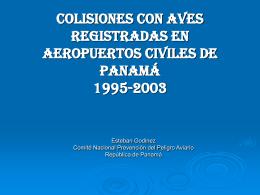 COLISIONES CON AVES REGISTRADAS EN AEROPUERTOS …