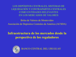 DEPOSITARIOS CENTRALES Y SISTEMAS DE …