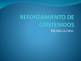 REFORZAMIENTO DE CONTENIDOS
