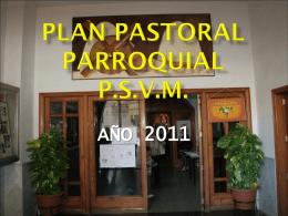PLAN PASTORAL PARROQUIAL - Parroquia de San Vicente