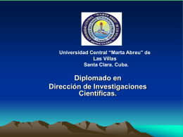"""SEMINARIO """"DIRECCION DE INVESTIGACIONES …"""