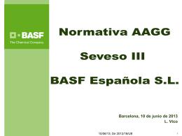 Seveso III Implicaciones en BASF