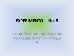 EXPERIMENTO No. 5