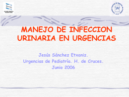 DIAGNOSTICO DE INFECCION URINARIA EN EL LACTANTE