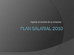 Plan salarial 2010