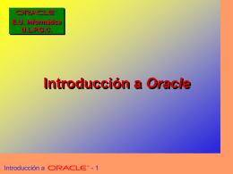Tema 1 de Oracle