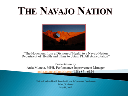 The Navajo Nation - National Indian Health Board