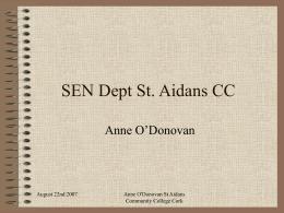 SCN Dept St. Aidans CC