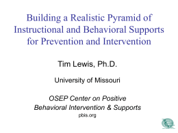 School-wide Positive Behaviour Support: Implications …
