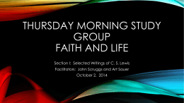 Thursday morning study group faith and Live