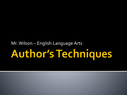 Author's Techniques