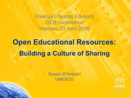 Open Educational Resources open content Creating