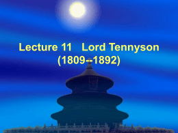 Lecture 11 of Book II Lord Tennyson