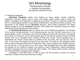 PowerPoint Presentation - 323 Morphology The Structure …