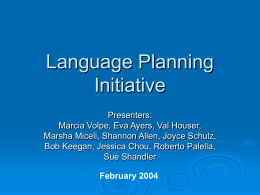 Language Planning Initiative