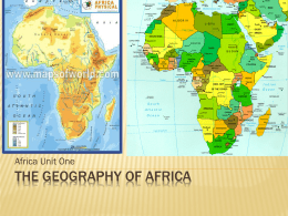 The Geography of Africa - Effingham County Schools / …