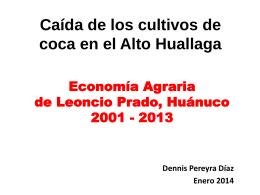 ECONOMIA AGRARIA DE AUCAYACU 1997