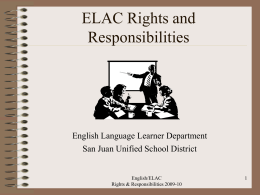 ELAC Training