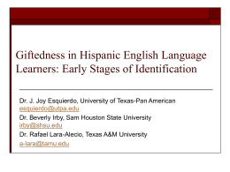 Early Identification of English Language Learners for