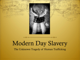 Modern Day Slavery - Kent City School District