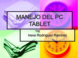 MANEJO DEL PC TABLET - Web