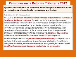 Retenciones en la Reforma Tributaria 2012