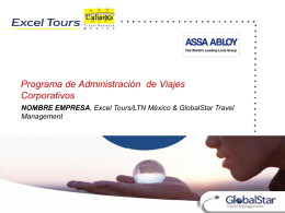 Diapositiva 1 - XlTours Assistant, BackOffice