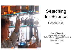 Searching for Science