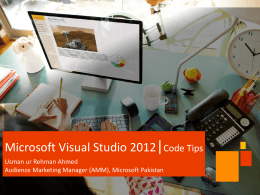 Microsoft Visual Studio – Code Pointers