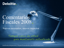Deloitte template - IMEF INSTITUTO MEXICANO DE …