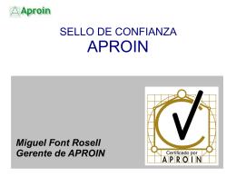 PRESENTACION SELLO DE CALIDAD APROIN