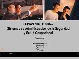 OHSAS 18001: 2007