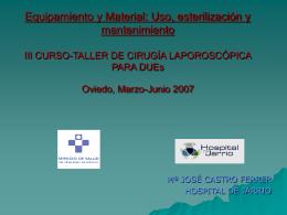 I CURSO-TALLER DE CIRUGIA LAPOROSCOPICA