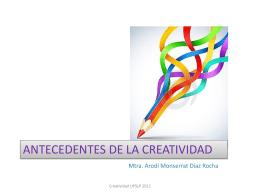 Antecedentes del concepto de creatividad