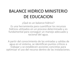 BALANCE HIDRICO MINISTERIO DE EDUCACION