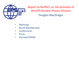 EPS Nuclear Physics Division