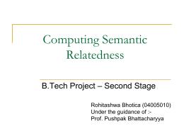 Computing Semantic Relatedness
