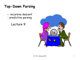 CS536: Introduction to Programming Languages and …