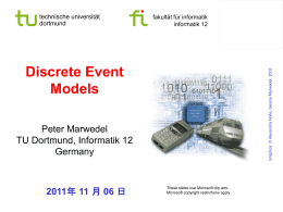 Discrete Event Models