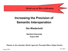 Increasing the Precision of Semantic Interoperation