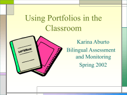 Using Portfolios in the Classroom