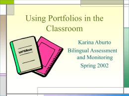 Using Portfolios in the Classroom