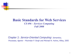 Chapter 2: Basic Standards for Web Services