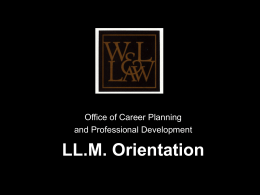 The Resume - Washington and Lee University School of Law